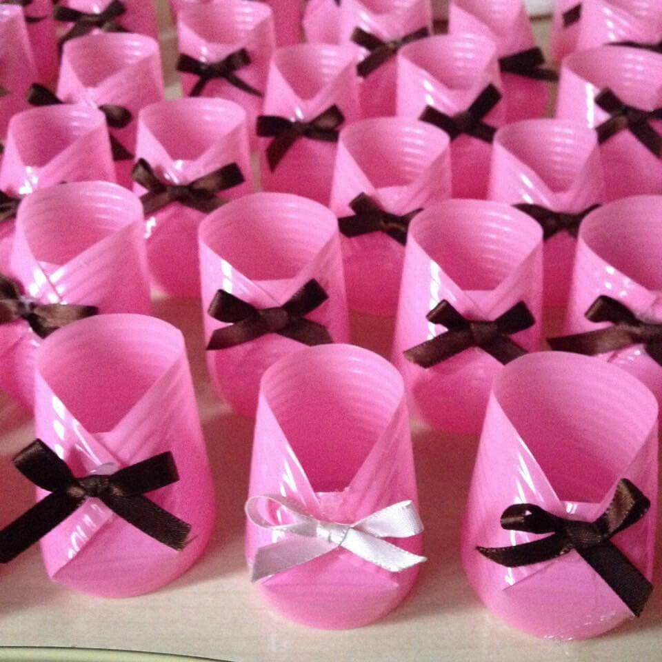 Plastic Cup To Baby Shoe Decor Baby Shower Ideas In 2018