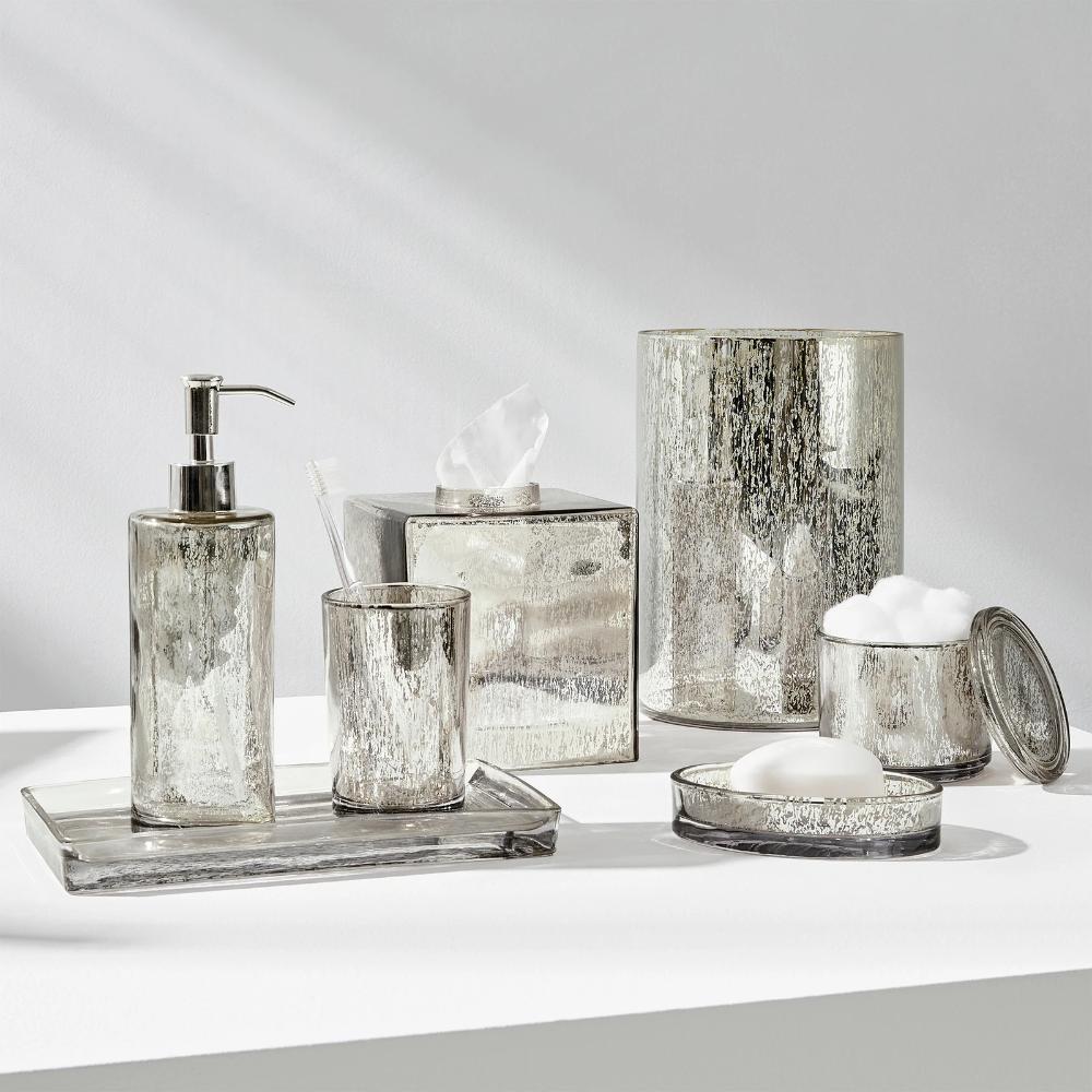 Versailles Bath Accessories Mercury Glass Bathroom Accessories Bath Accessories Glass Bathroom Accessories