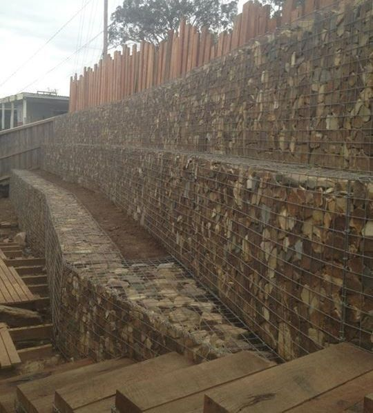 gaviones decorativos mil anuncios com para piedras 134526673 3 stepped gabion retaining wall, Important! The lower walls must be strong  enough to support weight of upper walls.