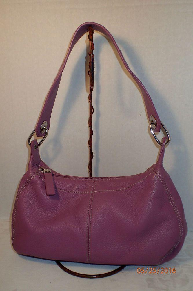 The Sak Leather Handbag Small Purple Hobo Shoulder Bag Heart Design Strap Guc Thesak
