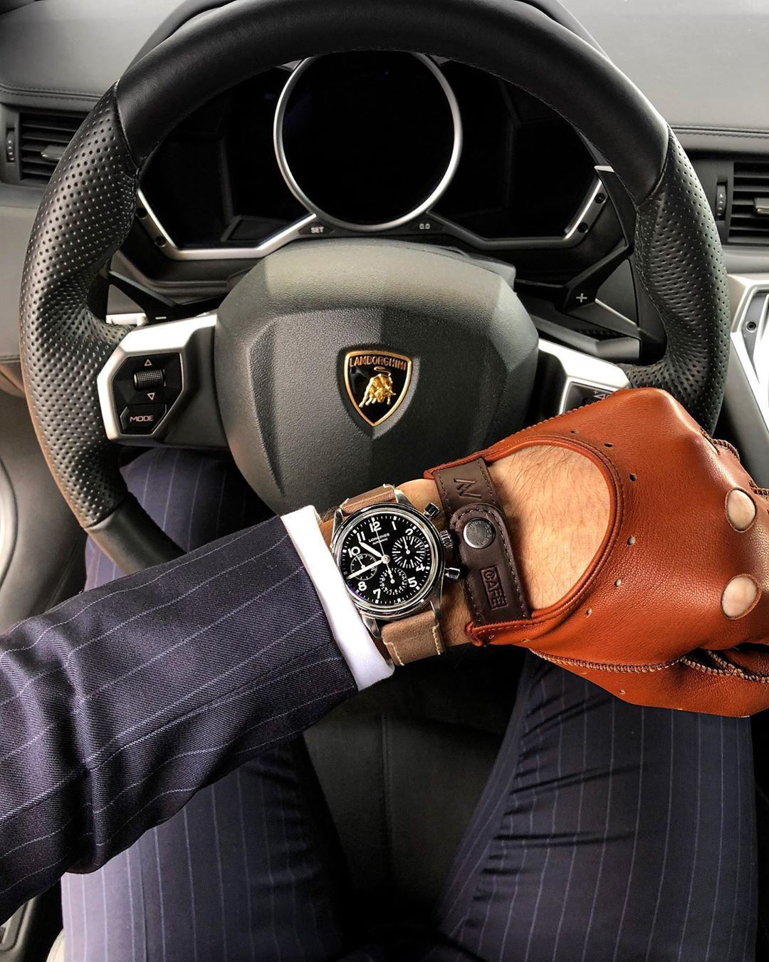 Leather Driving Gloves In A Lamborghini In 2020 Leather Driving Gloves Driving Gloves Men Driving Gloves
