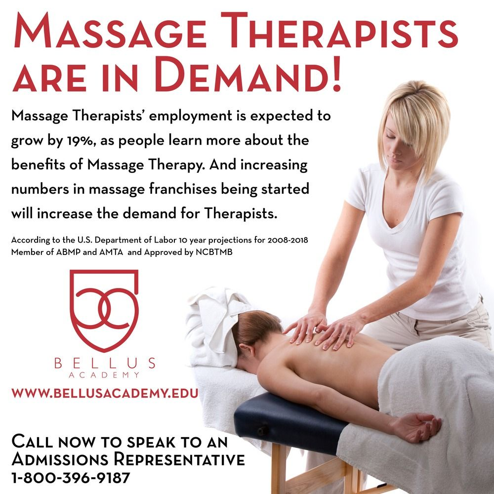 Massage therapists are in demand employment is expected