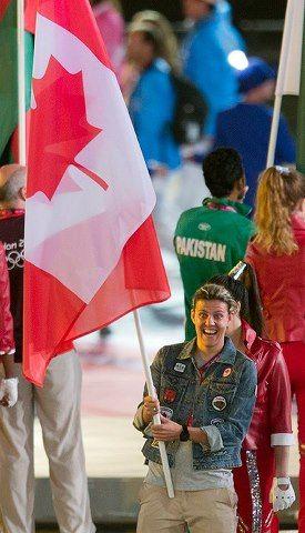 Canada S Flag Bearer Christine Sinclair Women S Soccer Team Team Canada Olympic Team