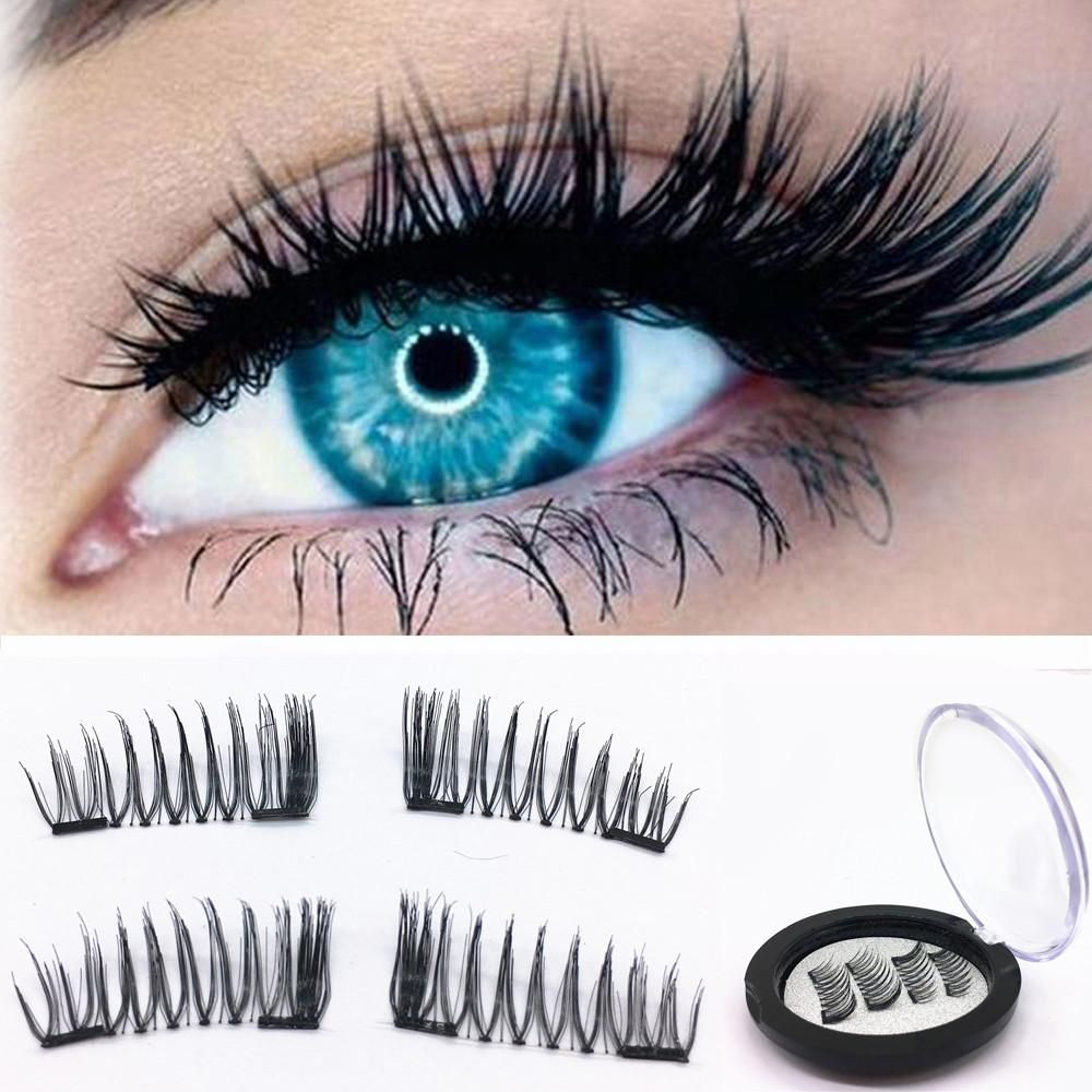 3508af8e48a 1 Pair 3D Magnetic False Eyelashes Lashes Reusable False Magnet – shopdevi