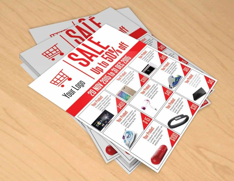 Free Sale Flyer Psd Template To Promote Your Products Free Psd