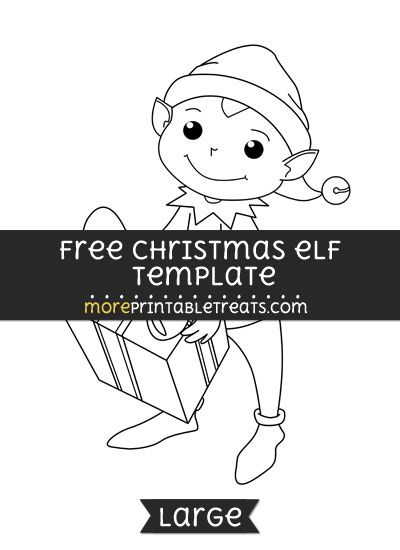 free christmas elf template large shapes and templates