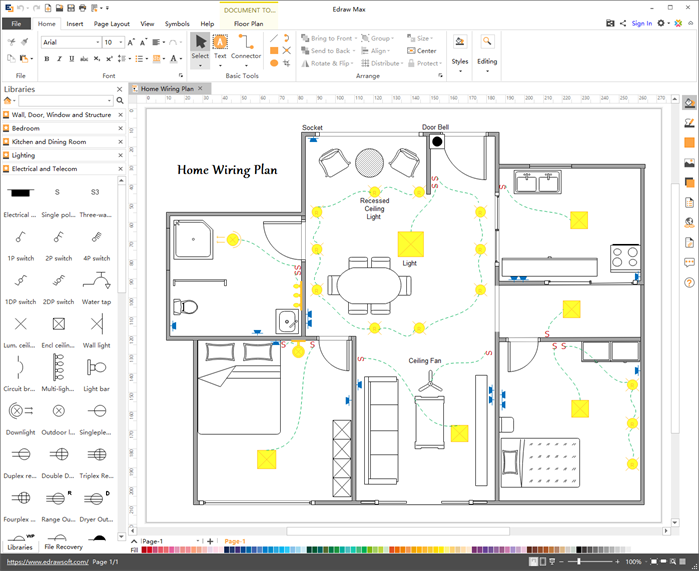 home wiring plan software  house wiring software project
