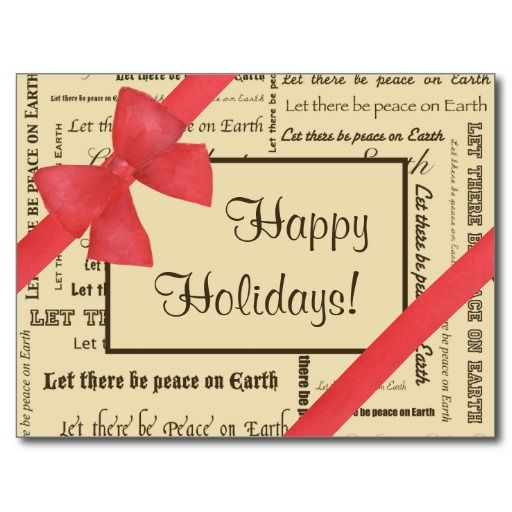 Peace on Earth Post Card