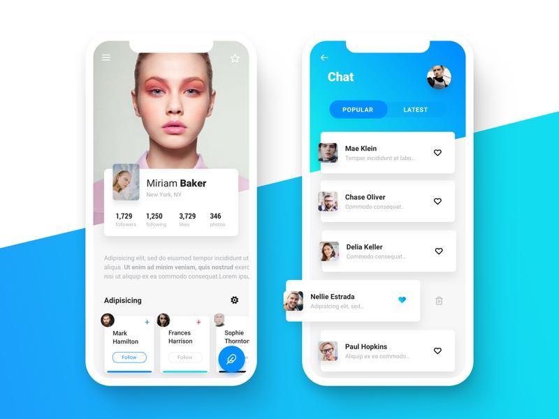 Profile Screen App Design Profile Profile App Mobile App Design