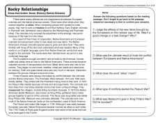 Rocky Relationships | Reading comprehension worksheets ...
