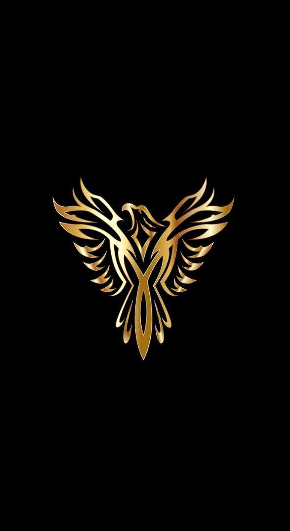 Gs Black Phone Wallpaper Phoenix Bird Art Art Logo