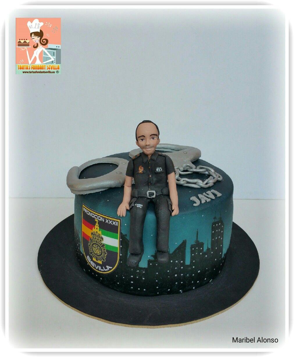 Tarta policia nacional tartas cumplea os pinterest for Oficina policia nacional