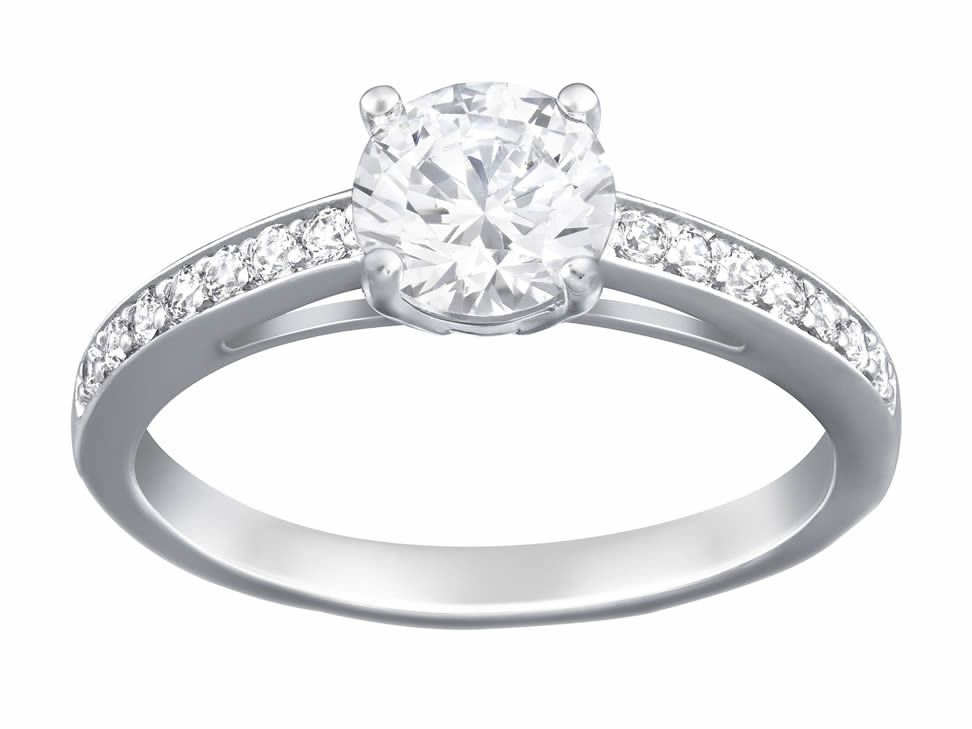 anillo swarovski attract plata swarovski ringswarovski crystalsjewellery ringsengagement - Swarovski Wedding Rings