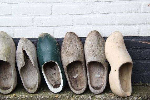 Vintage Dutch Clogs Photograph Holland Netherlands Neutral Home