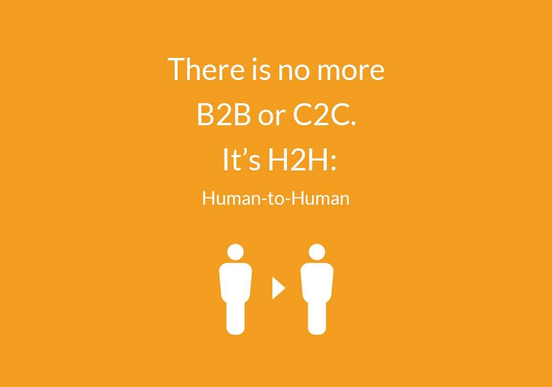 "Crm Quote Endearing Quote  ""there Is No More B2B Or C2Cit's H2Hhuman To Human . Design Decoration"