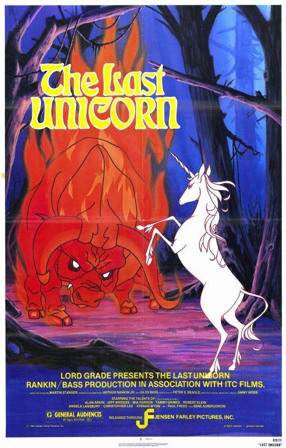 Last Unicorn 27x40 Movie Poster (1982) The last unicorn