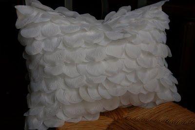 Rose Petal Pillow Tutorial Beyond The Screen Door Diy Pillow Tutorials Diy Pillow Shams Diy Roses