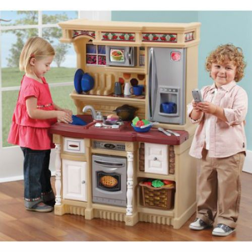 Custom Lifestyle Kitchen Playset Play Set Kids Pretend Toddler Toy Boys  Girls U2013 Common Shopping