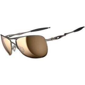 ee9cc0b9f06 Oakley Titanium Crosshair Men s Polarized Active Lifestyle Sunglasses -  Titanium Tungsten Iridium   One Size Fits All