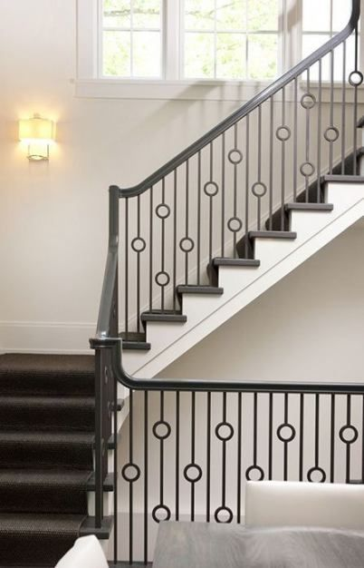 Stairs landing handrail 39+ ideas for 2019 #stairs   Stair ...