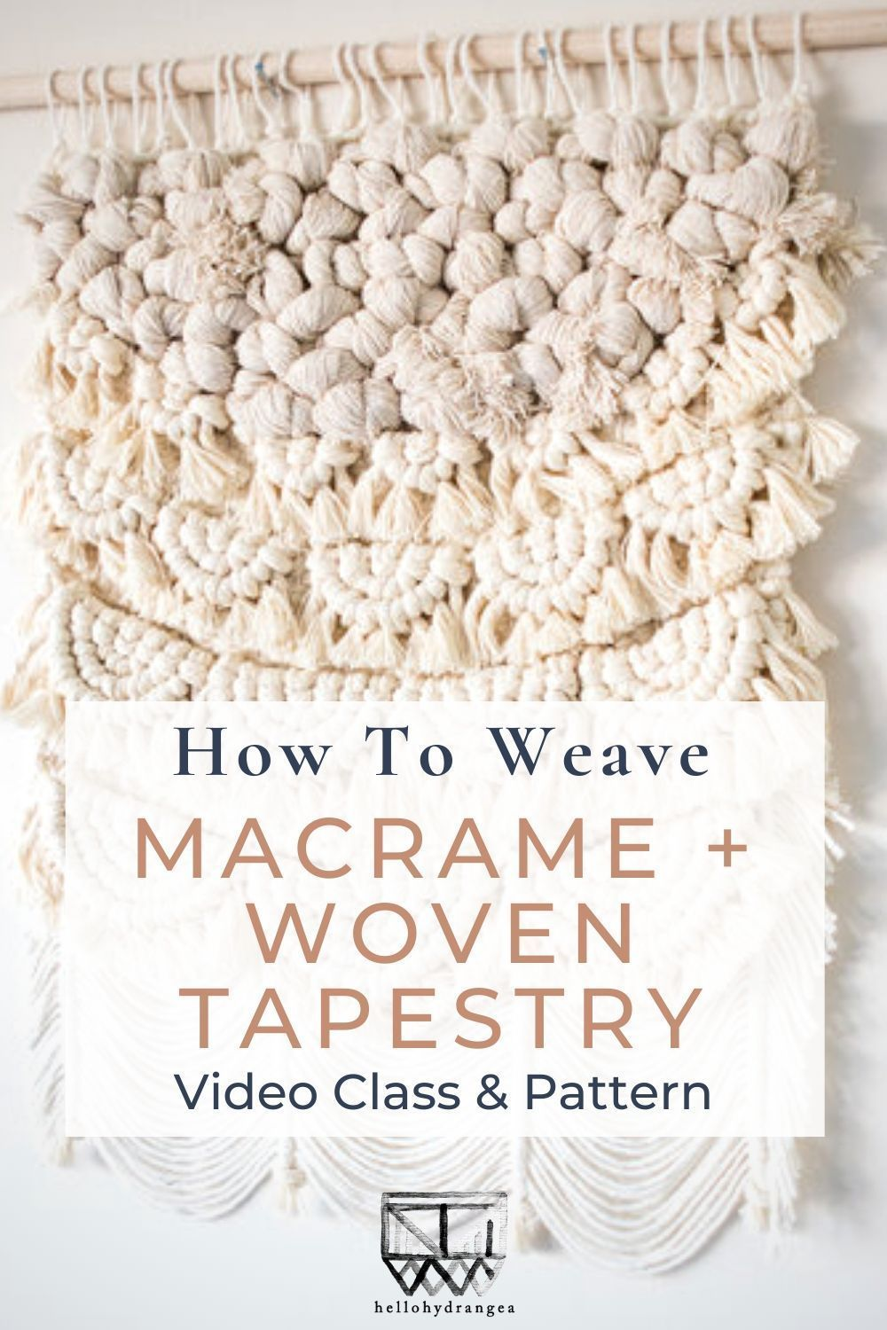 Learn how to combine macrame and weaving techniques in this online DIY tutorial to create this gorgeous macrame woven wall hanging The video class comes with stepbystep i...