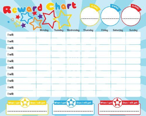 Magnetic Reward  Star  Responsibility  Behavior Chart For Up To