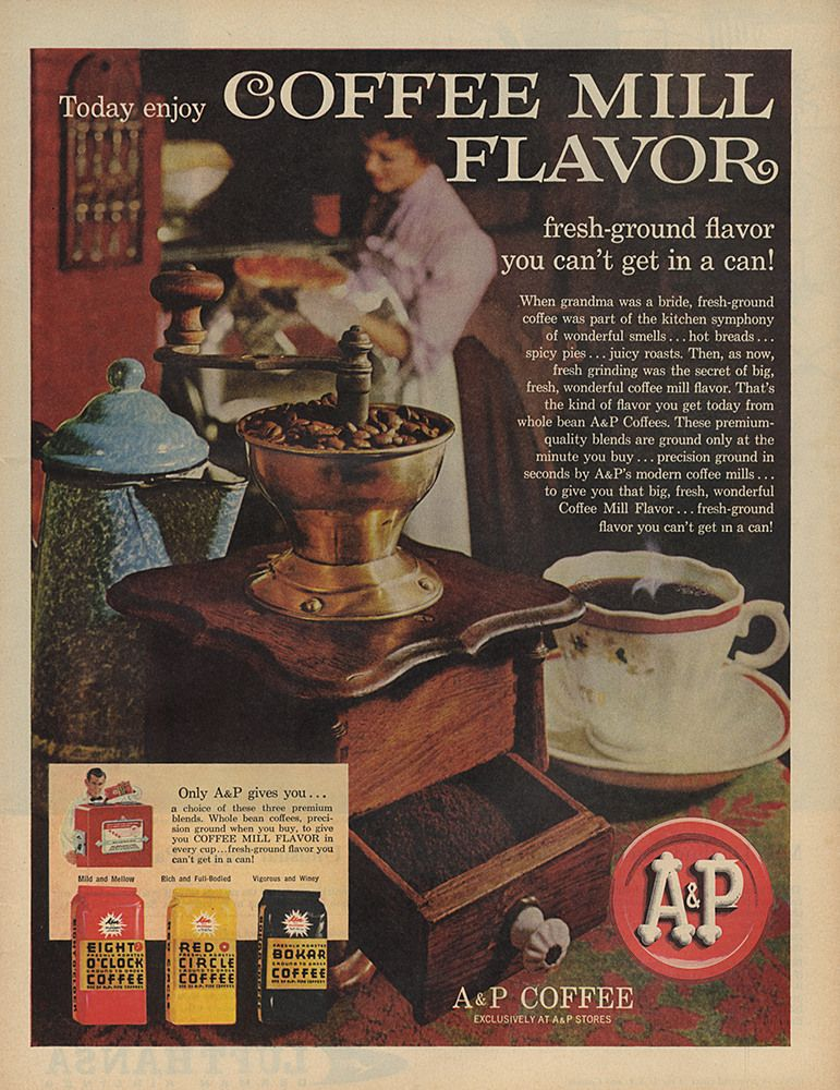 A P Coffee Vintage Coffee Coffee Advertising Vintage Advertising Art