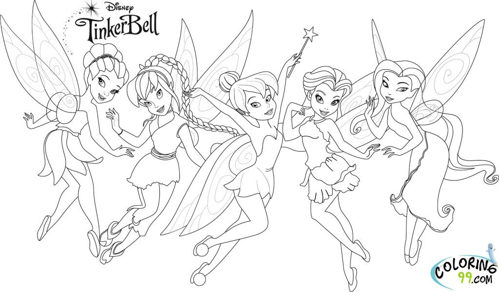Tinkerbell And Friends Tinkerbell Coloring Pages Free Disney Coloring Pages