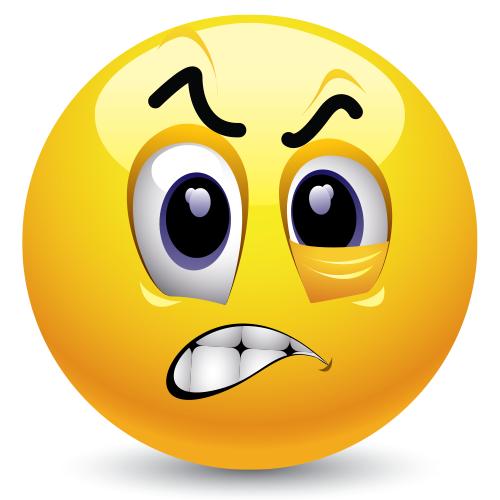 Frustrated Emoticon Funny Emoticons Funny Emoji Smiley