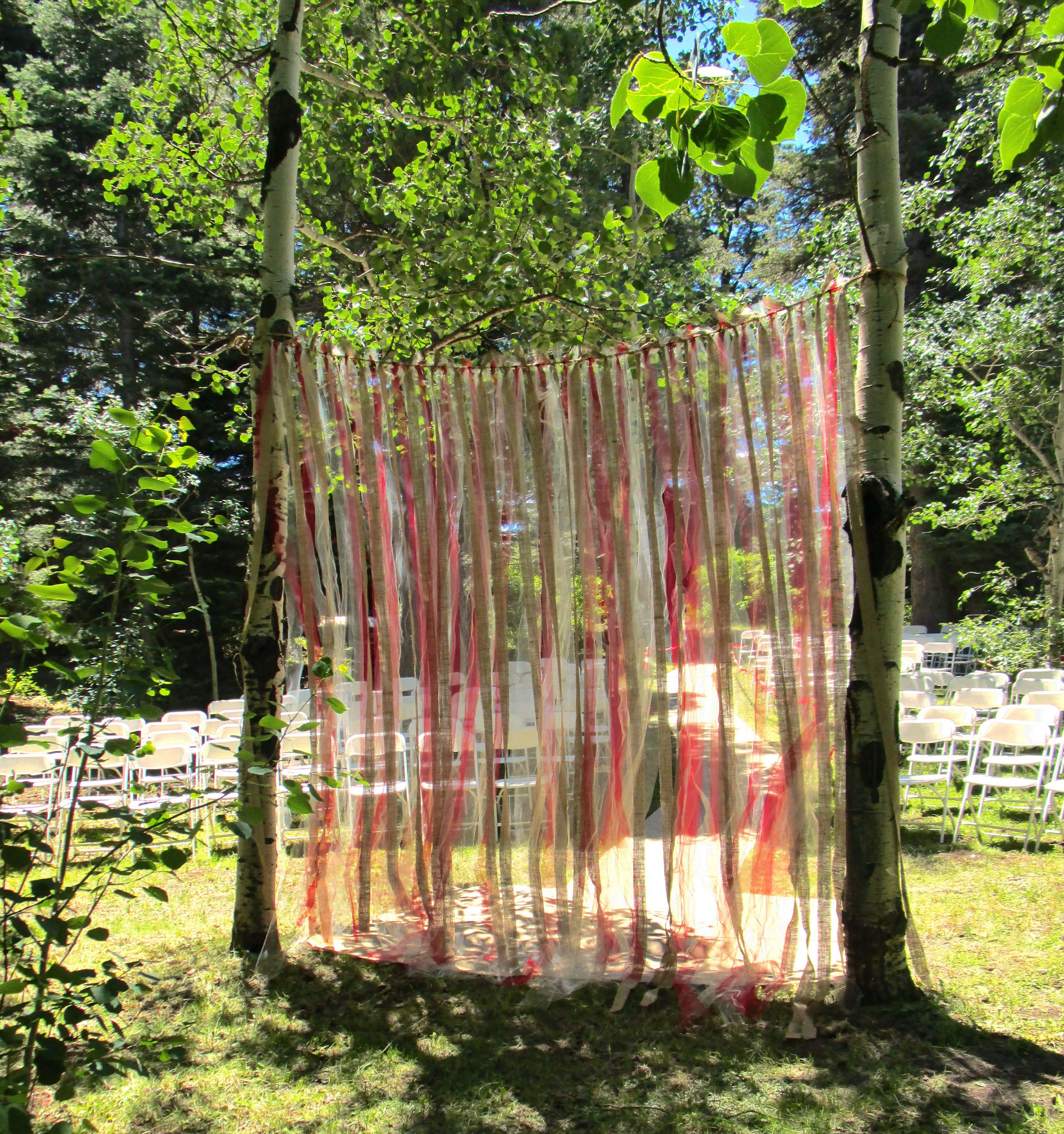 Colorful Rustic Wedding Arbor