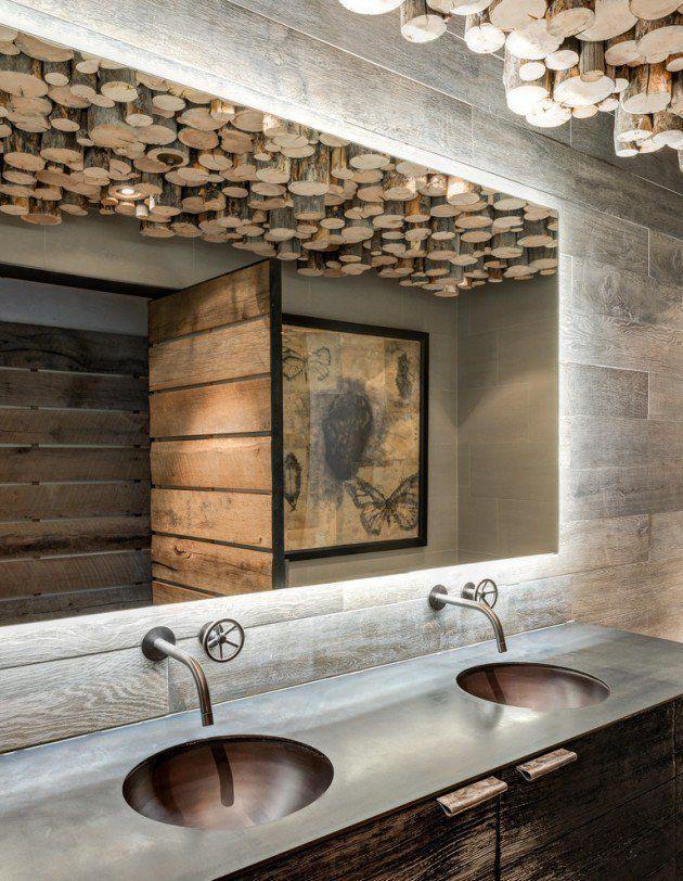 des salles de bain rustiques pour vous rchauffer cet hiver - Salle De Bain Rustique