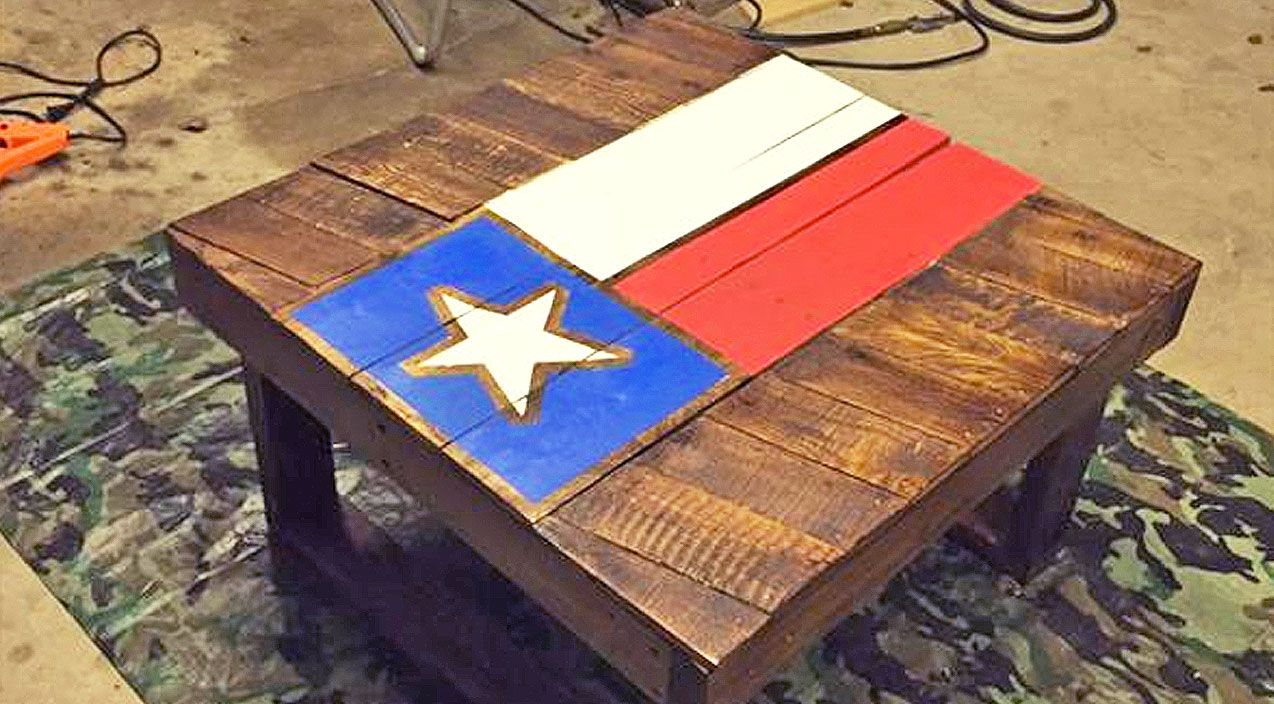 Country Music Lyrics Quotes Songs Diy Texas Flag Coffee Table Made From