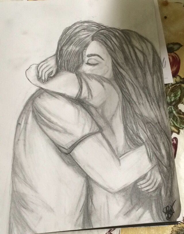I Drew This Because I Love Drawing People And Moments Like These