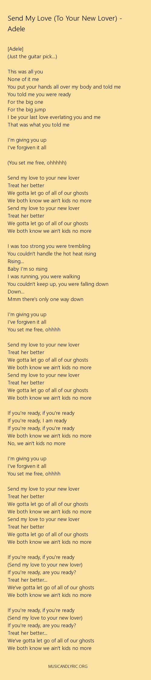 lovers in love lyrics
