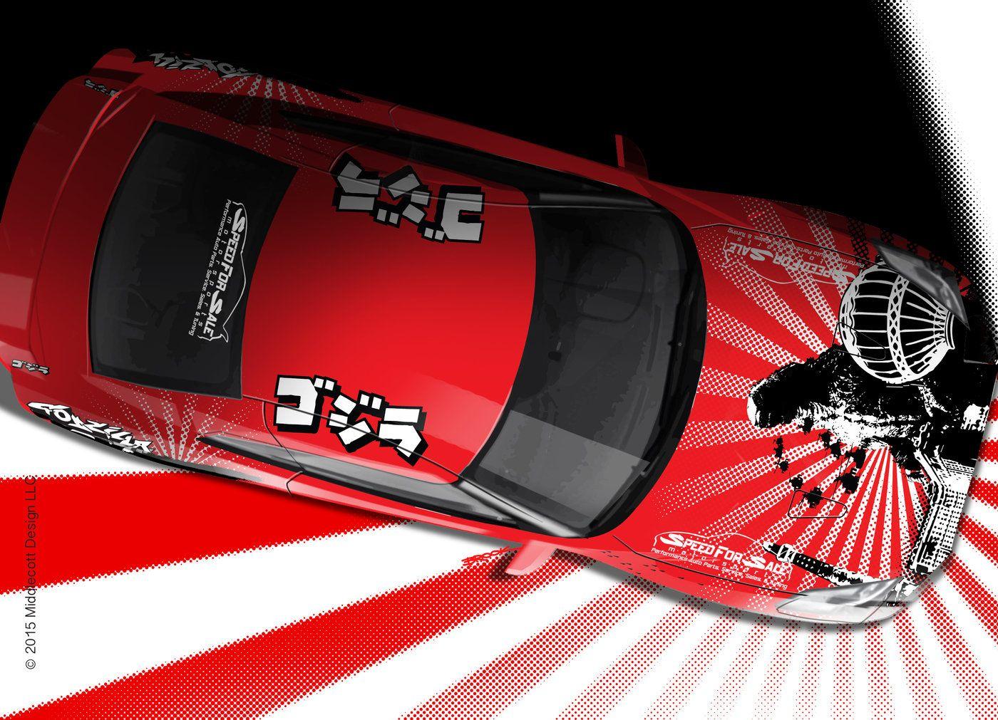Godzilla Vs Las Vegas Vinyl Car Wrap Design By Brook Banham At Coroflot Com Car Wrap Car Wrap Design Godzilla Vs [ 1011 x 1400 Pixel ]