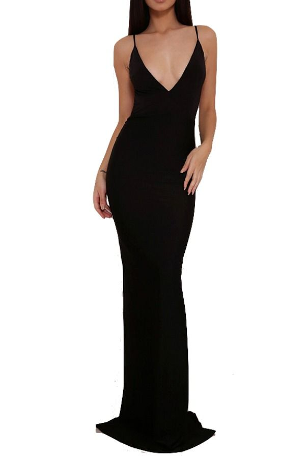 f7c58edbde5f Abyss Celine Midnight Black Gown Open Back   Poshare If you're looking for  a hot, low-back gown, this is it! This Abyss by Abby Celine dress is fully  lined ...