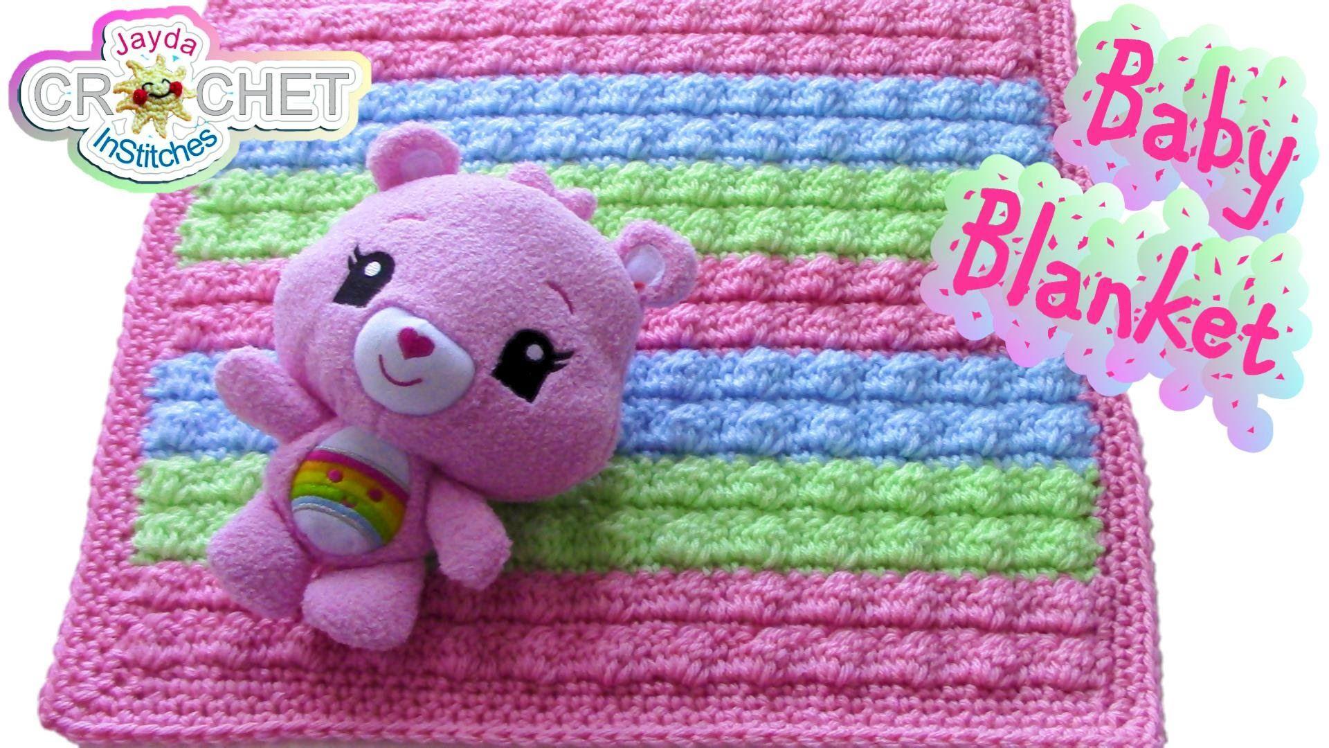 Crochet Bobble Stitch Baby Blanket Pattern | Crafts | Pinterest ...