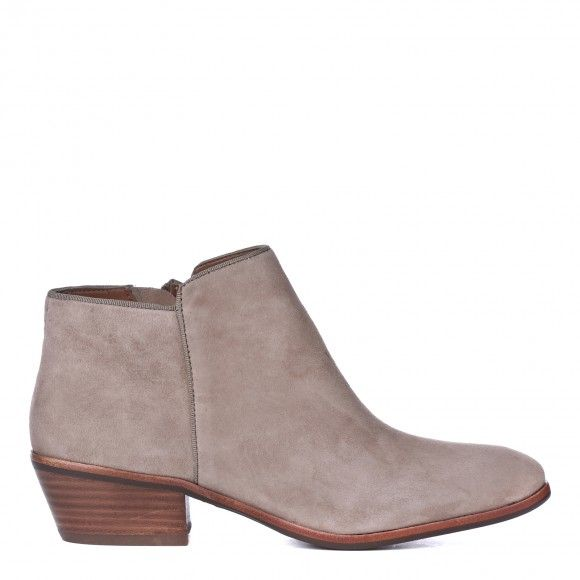 Suede Low Heel Ankle Boots - Boot Hto