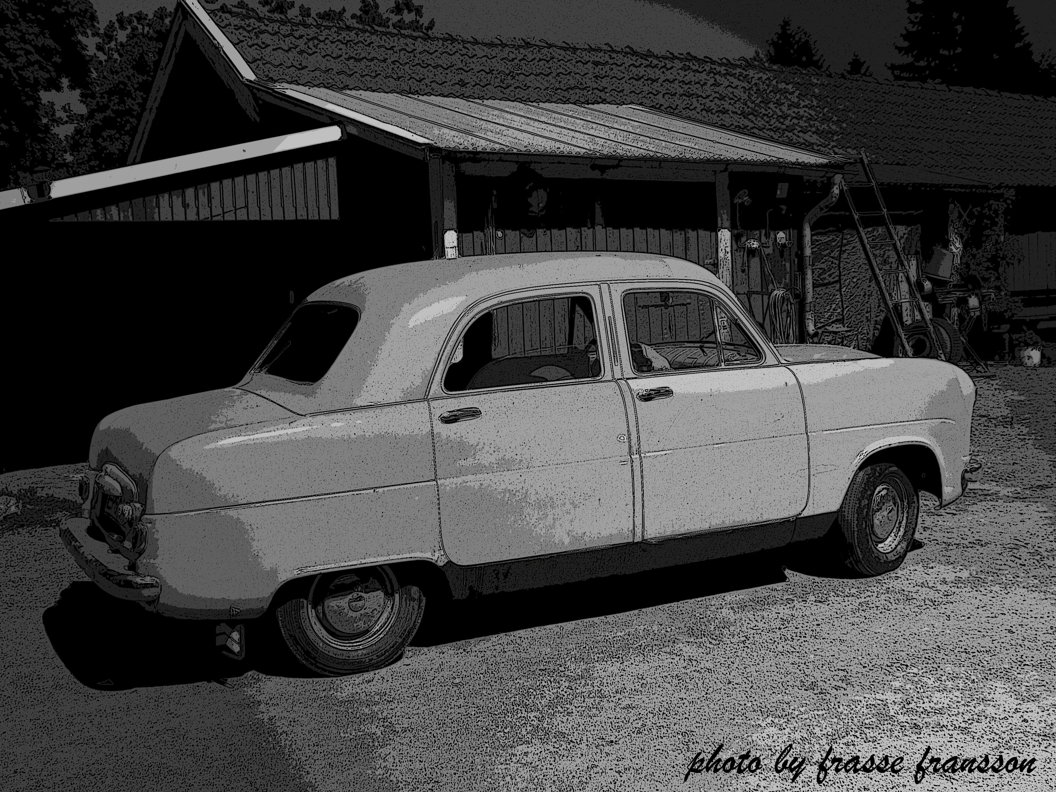 My daughters future Hot Rod project ... a Ford Consul 1953. Assembled and purchased in Sweden 1953.  Photo and PS by frasse fransson