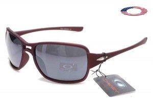 8a7530d1dd Fake Oakley Active Sunglasses Dark Red Frame Gray Lens