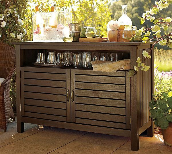 Charming UPCYCLED: Outdoor Kitchen Buffet Table | Outdoor Buffet, Buffet And Kitchen  Buffet Table