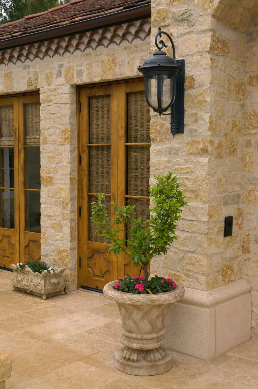 House Design Architects designed this french country style patio for clients in Fairbanck Ranch California