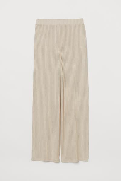 Photo of Ribbed Pants – Light beige – Damer   H&M USA