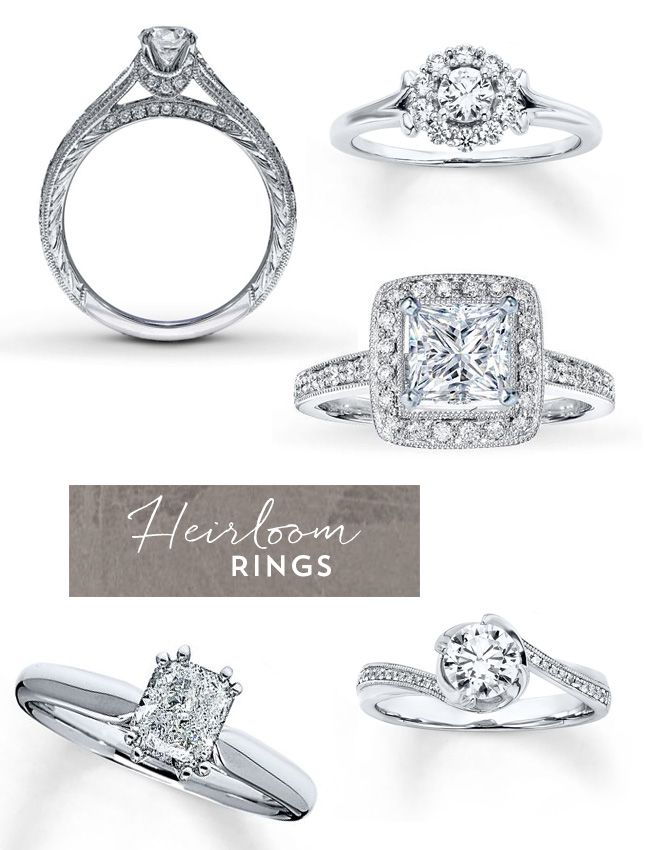 Rose Gold Heirloom Engagement Rings from Jared Engagement Ring