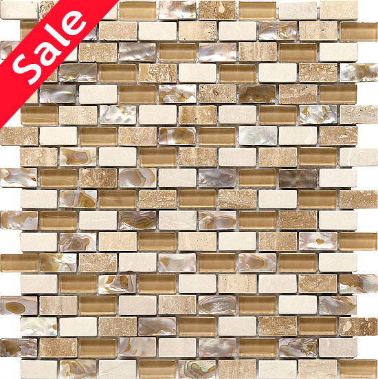 Boutique Collection Arena Glass Marble And Mother Of Pearl Blend 0 6 X 1 2 12x12 Mesh Mount Sheet 13 98 Per Square Foot Pearl Tile Traditional Kitchen Tiles Sparkly Tiles