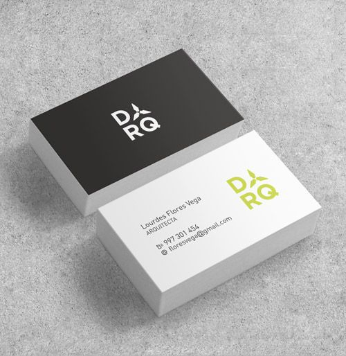 Slick Business Card Designs For Architects  Business Cards