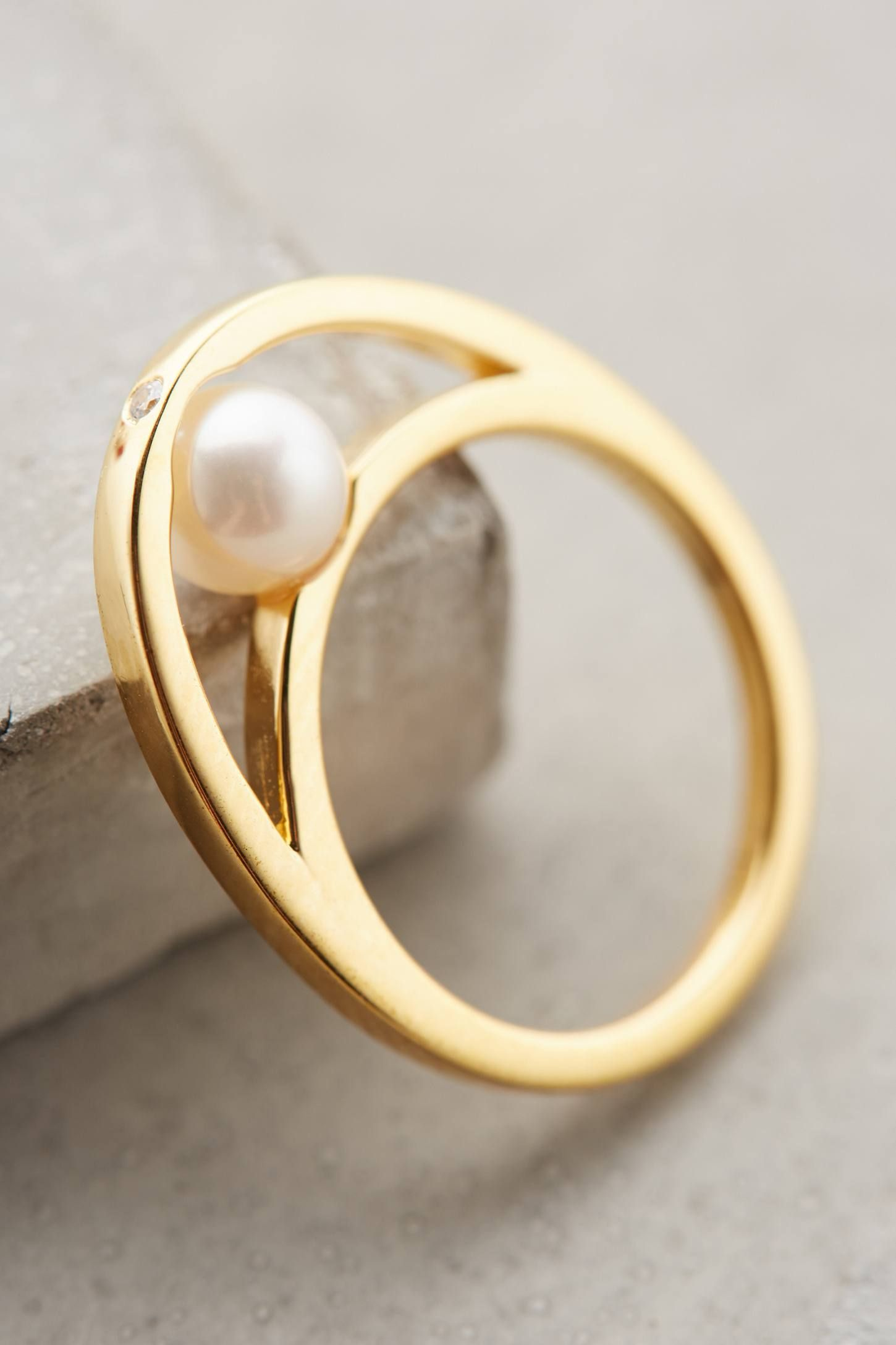 at Anthropologie Pearl Embrace Ring