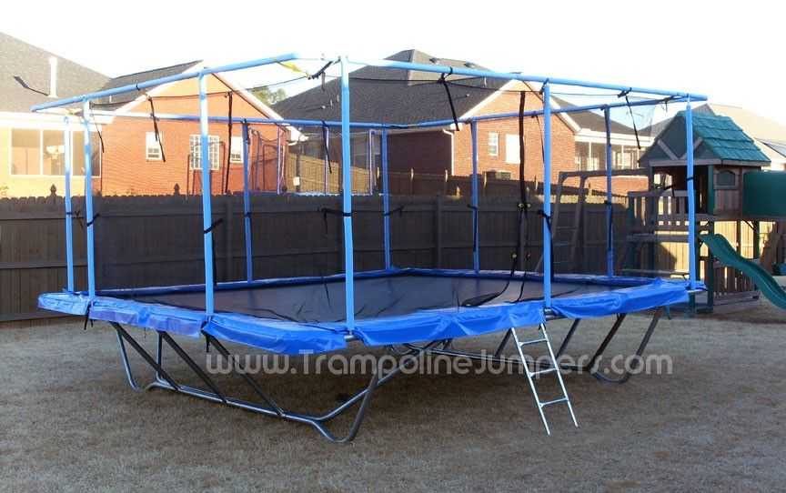 My Girls Are Begging For This Want To Sink It In The Ground Rectangle Trampoline Trampoline Backyard Trampoline