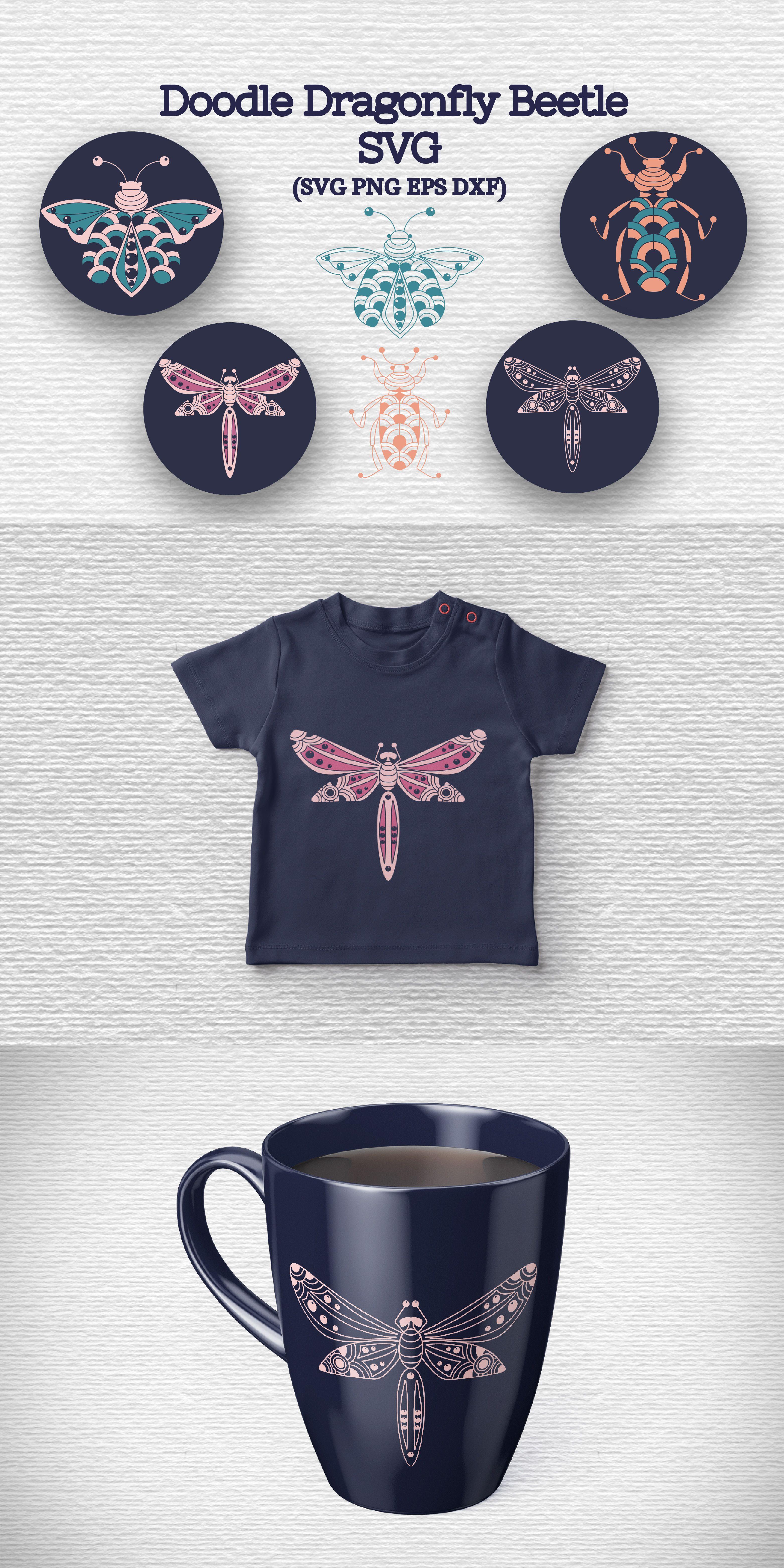 Download Doodle Dragonfly Beetle