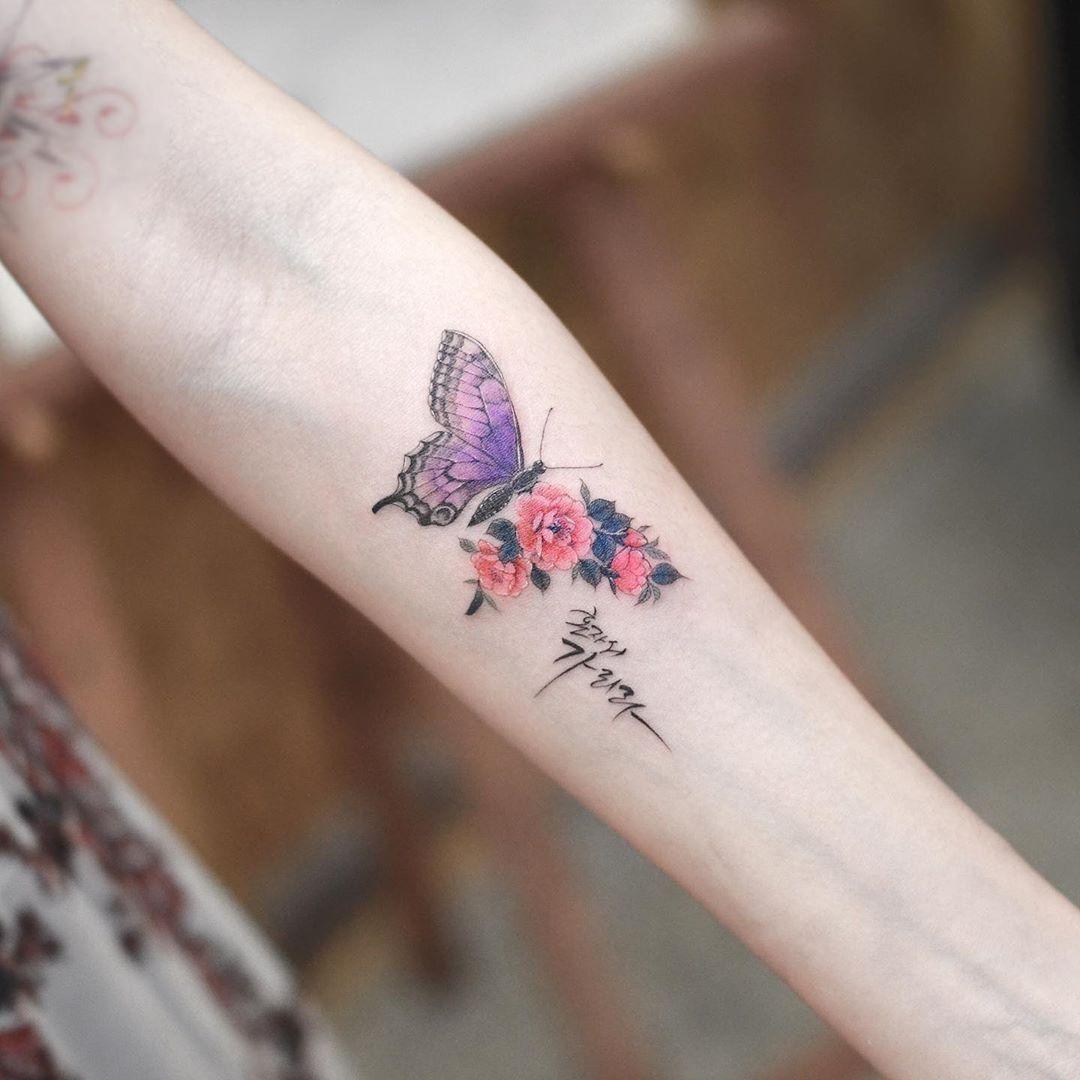 Photo of 45 entzückende Schmetterlings-Tätowierungen für Frauen –  32 entzückende Sch…